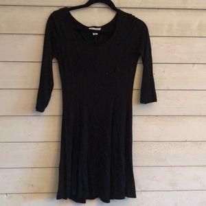 black long sleeved cotton dress